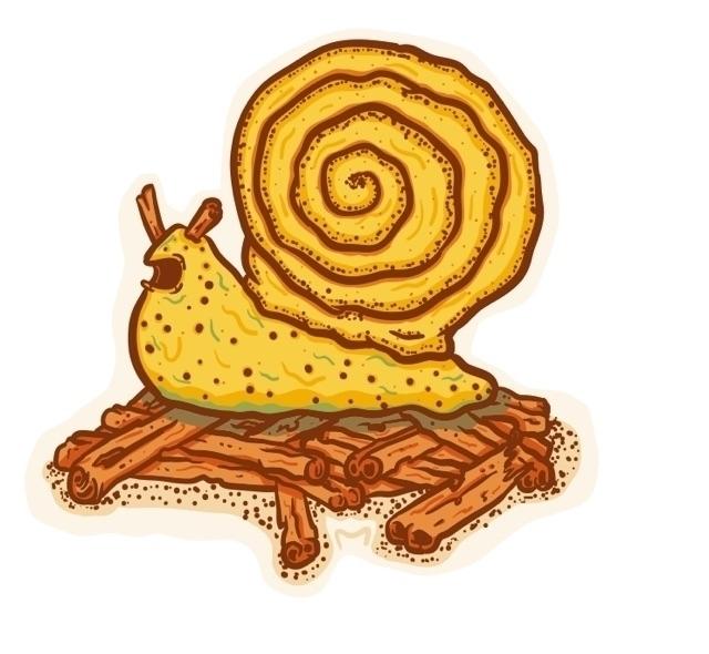 cinnamon snail - vector, digitalillustration - pencake | ello
