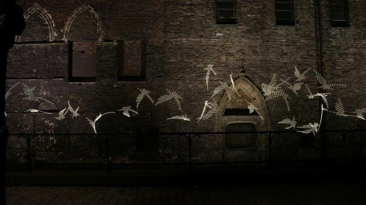 Birds passing (Indisputably (#s - graffitilights | ello