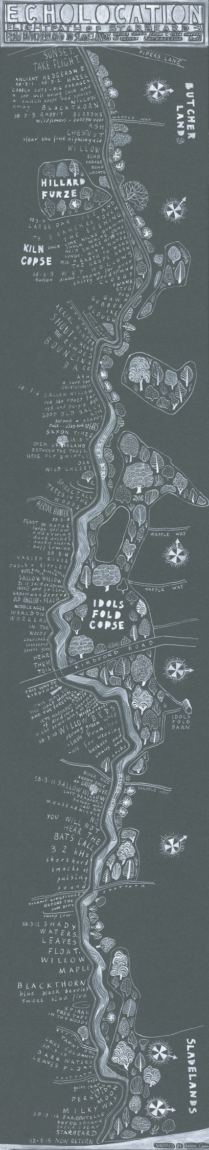 annotated map bat flight, creat - helencann | ello