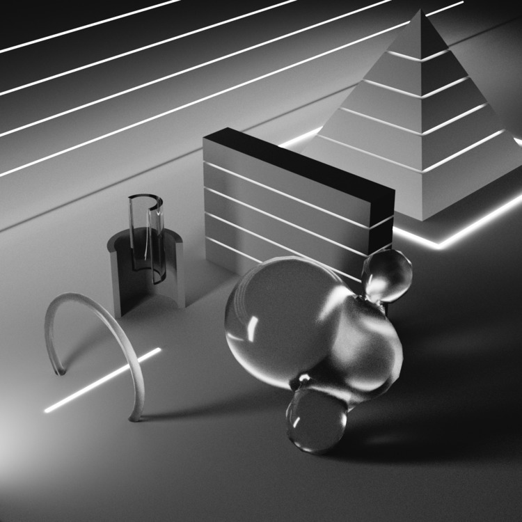 3D, graphics, illustration, texture - chromaticarcade | ello