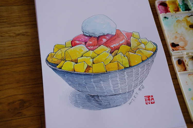 Daily sketch - doodle, watercolor - danieljang | ello