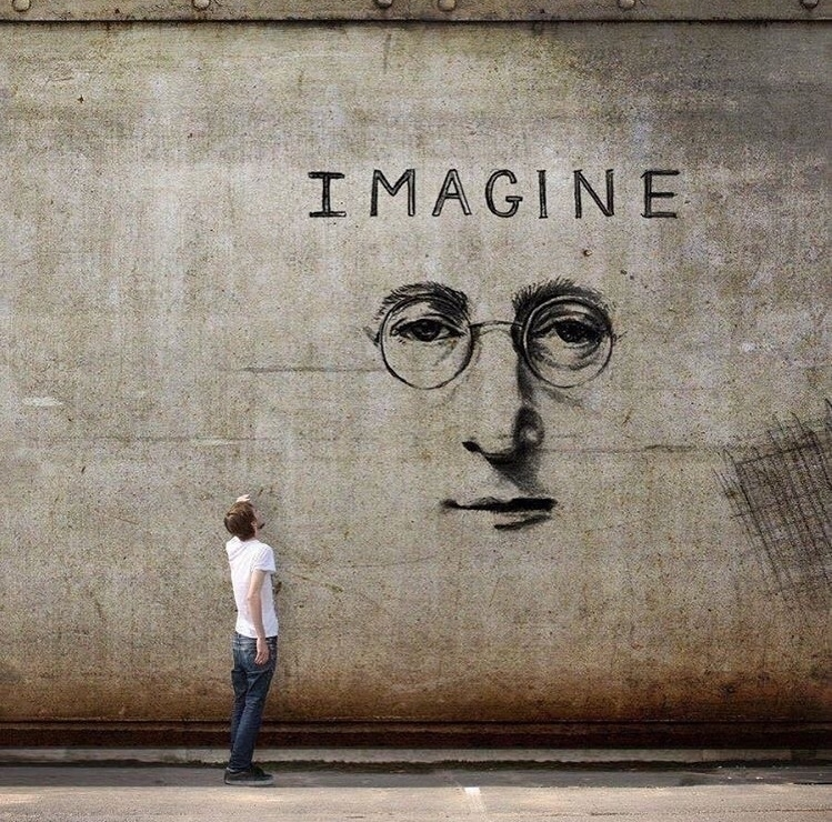 Imagine  - JohnLennon, Creative - bitfactory | ello