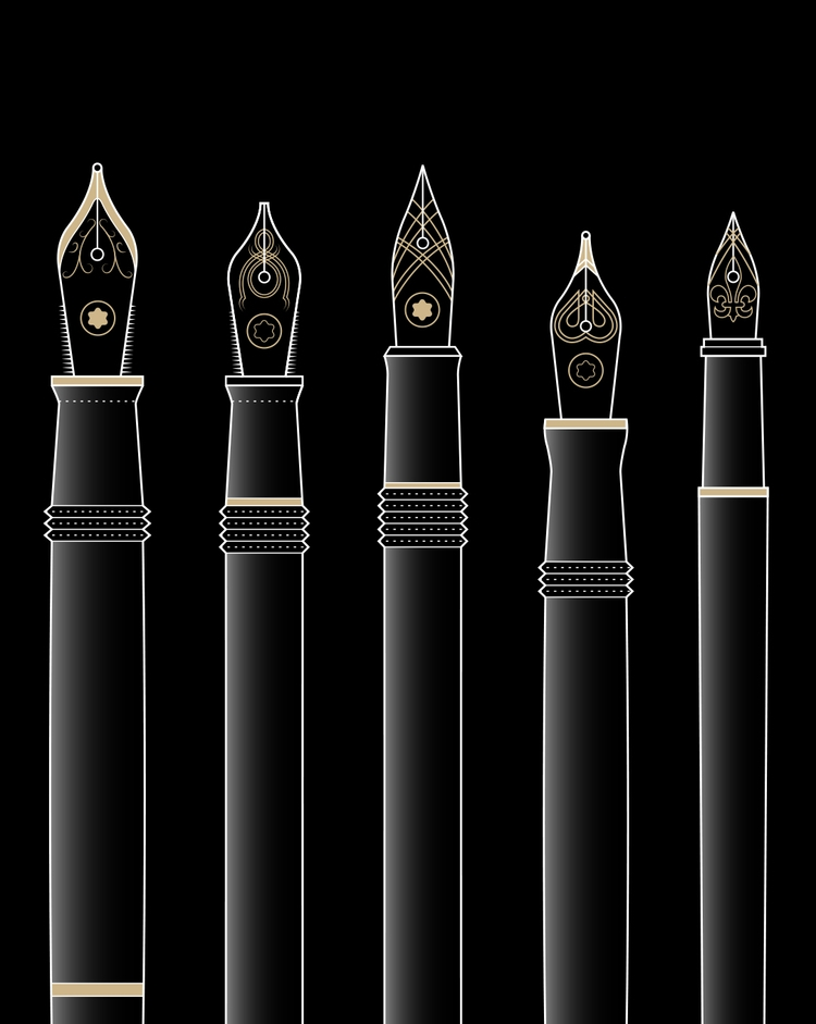Montblanc fountain pens illustr - andyhau | ello