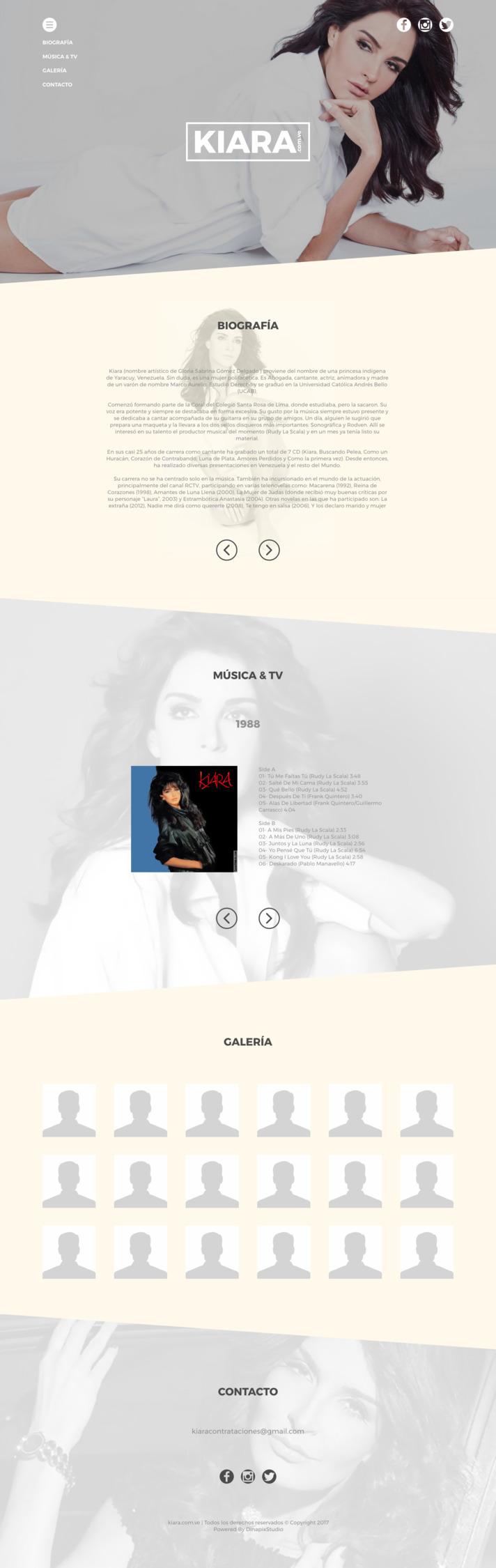 Kiara - behance, css, dinapix, design - dinapixstudio | ello