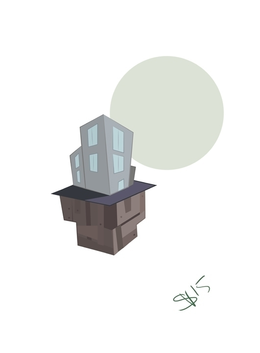 floating city island created Ad - svaeth | ello