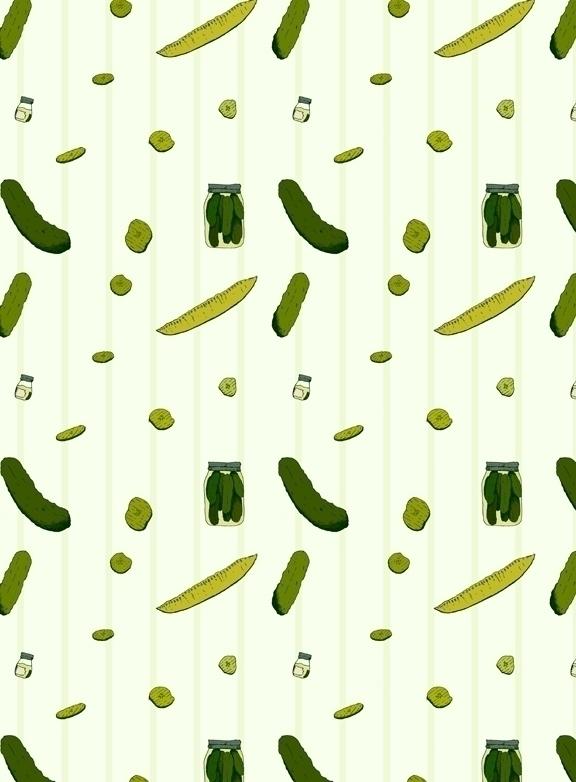 pickle themed pattern. element  - svaeth | ello