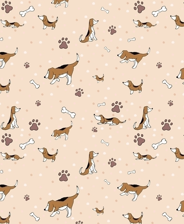 beagle themed pattern designed  - svaeth | ello