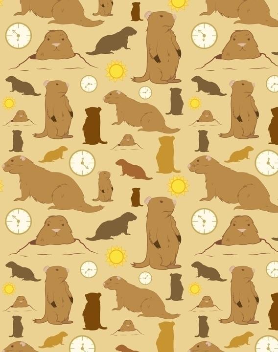 Groundhog themed pattern design - svaeth | ello
