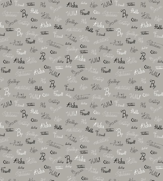 goodbye calligraphy pattern. wo - svaeth | ello
