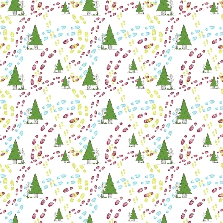 outdoors hiking themed pattern - svaeth | ello