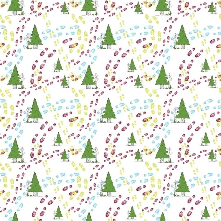 outdoors hiking themed pattern - svaeth | ello