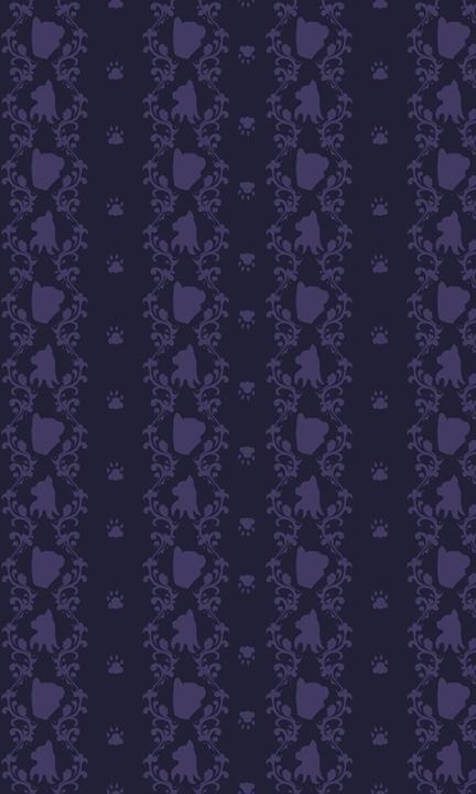 cat themed damask pattern - patterndesign - svaeth | ello