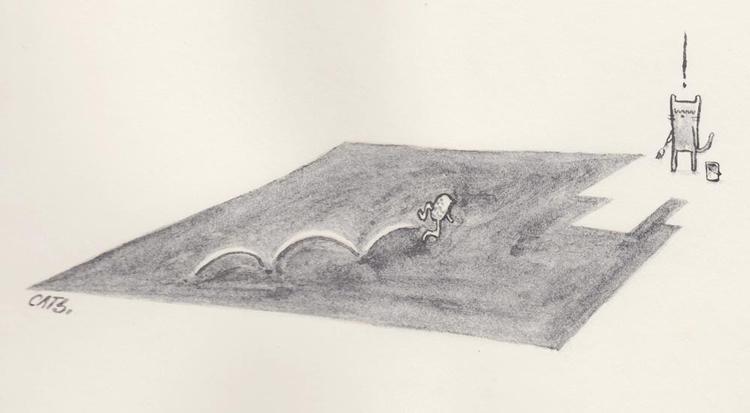 comfortable corner - watercolour - catsac   ello