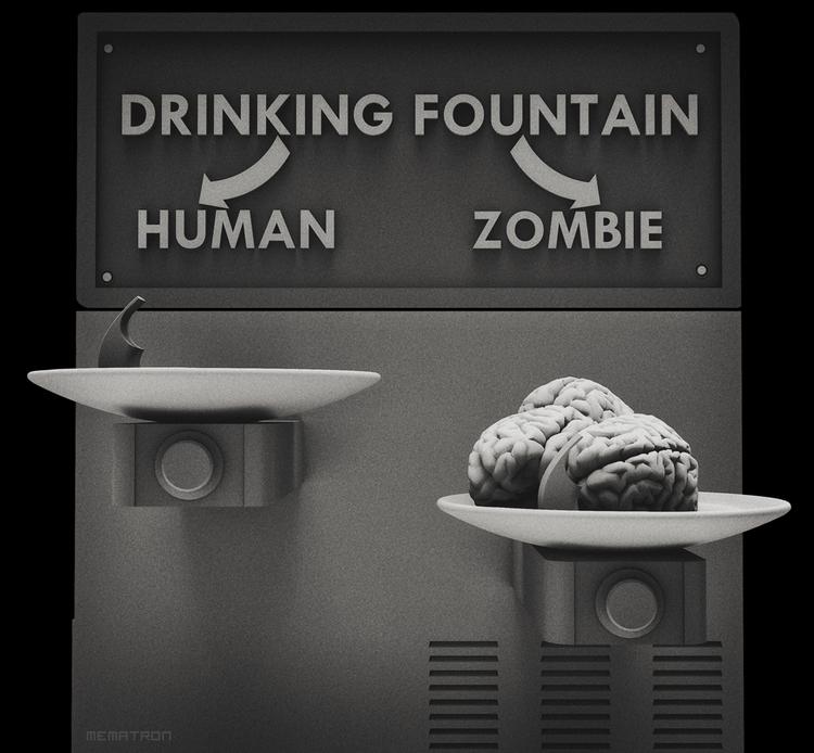 Zombie: speechless human. perso - mematron | ello