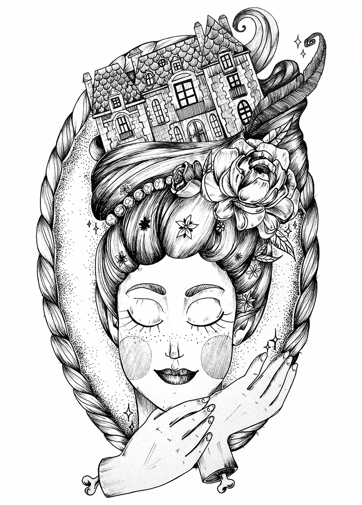 Manor Princess - illustration, drawing - charleenplum | ello