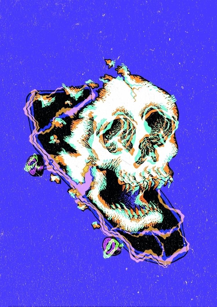 illustration, poster, skull - lucaslvi | ello