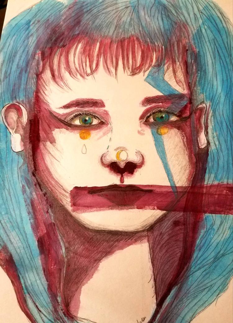 silenced - noref, art, painting - andaelentari | ello