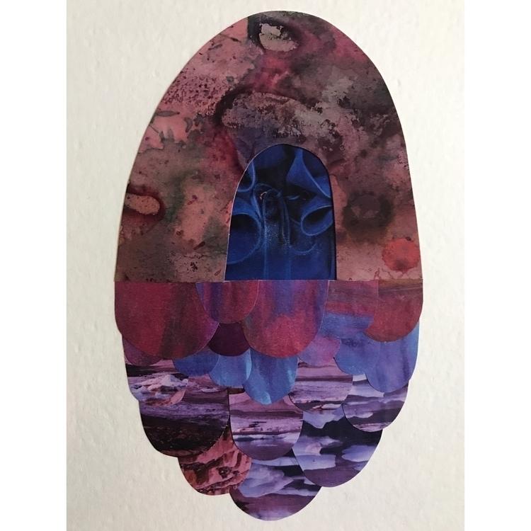 Collage hand painted paper ✦ - katyzimmerman - katythezimmerwoman | ello