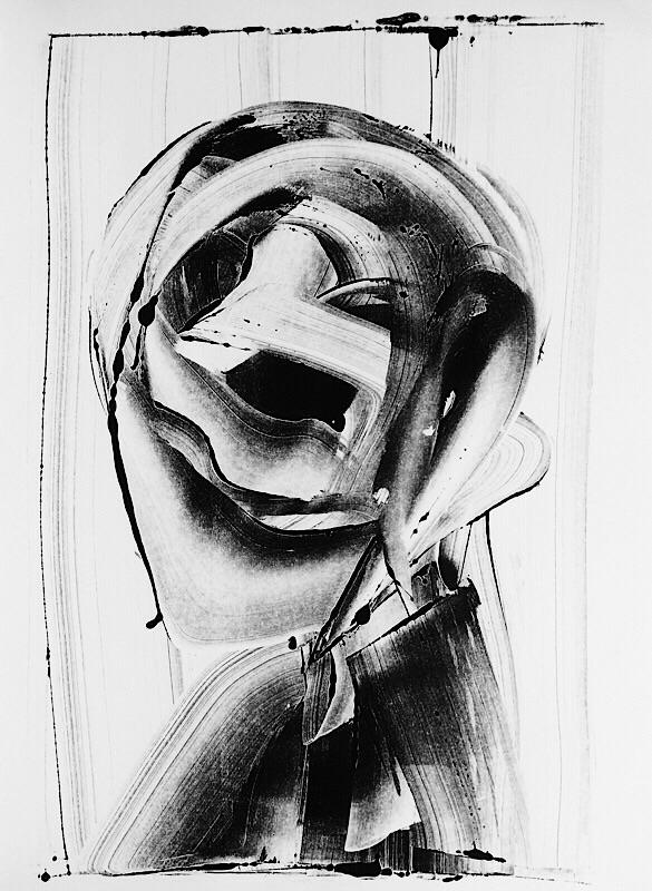art, print, monotype, blackandwhite - mlui   ello