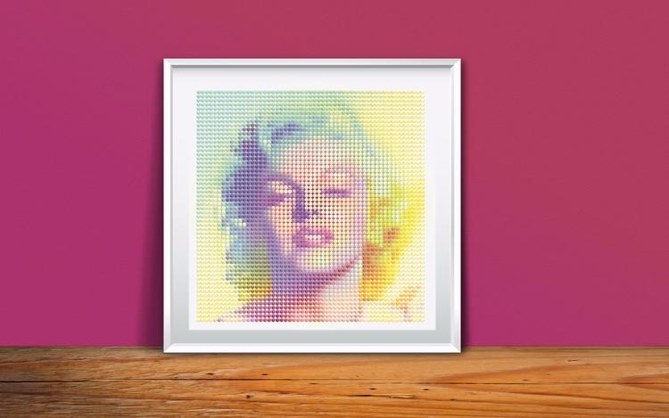 Marilyn Monroe cubic - rodfal   ello