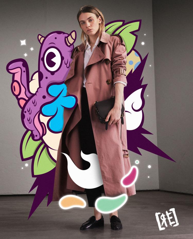 illustration Burberry - gif, animation - redaelmraki | ello