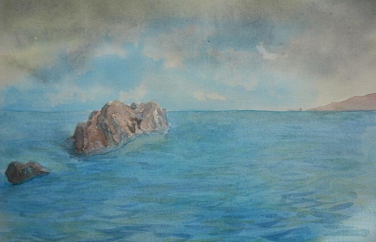 Seascape Study Watercolour - euric | ello