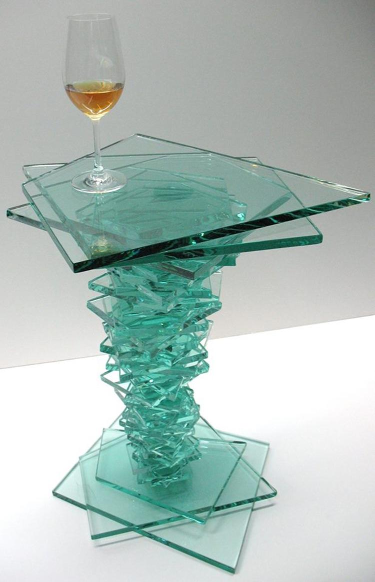 Tornado stacked glass table 34  - dalespiry | ello