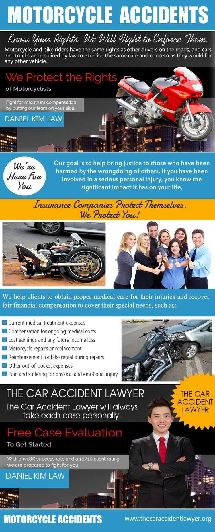 Motorcycle Accidents lawyers re - danielkimlaw | ello
