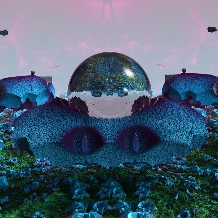 3D fractal render (mandelbulb3d - beaming-studios | ello