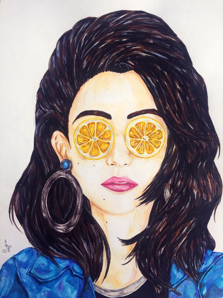 Lemon eyes (Meg Myers fanart - art - 13ladyn | ello