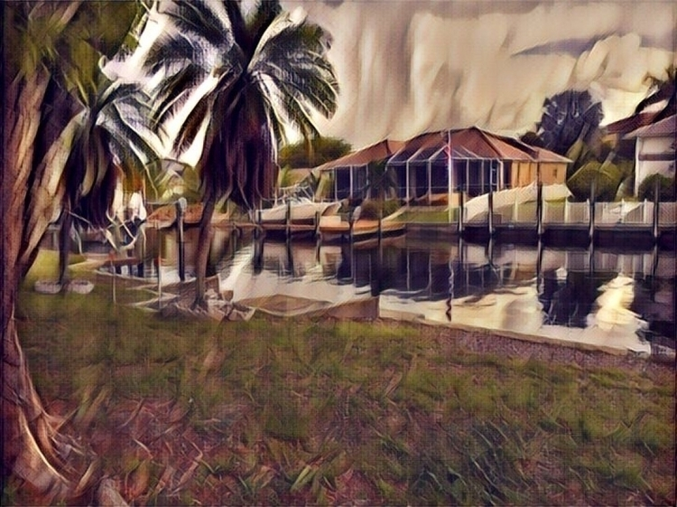 Water Canal View Backyard Apps - mikefl99 | ello