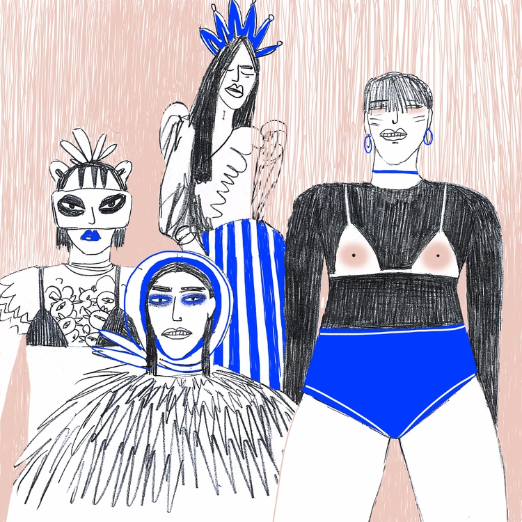 girls party, waiting boring con - belousova | ello