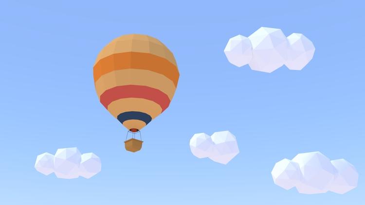 Balloon - 3D, LowPoly, Art - oroberto | ello