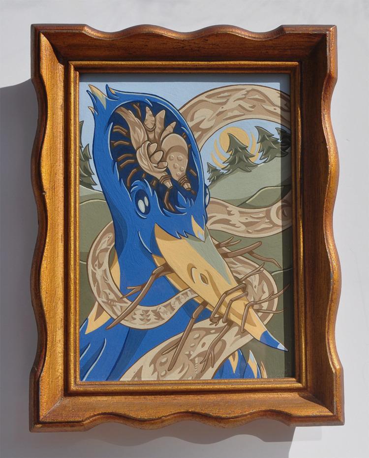 Birdbrain, gouache watercolor p - sagecotignola | ello
