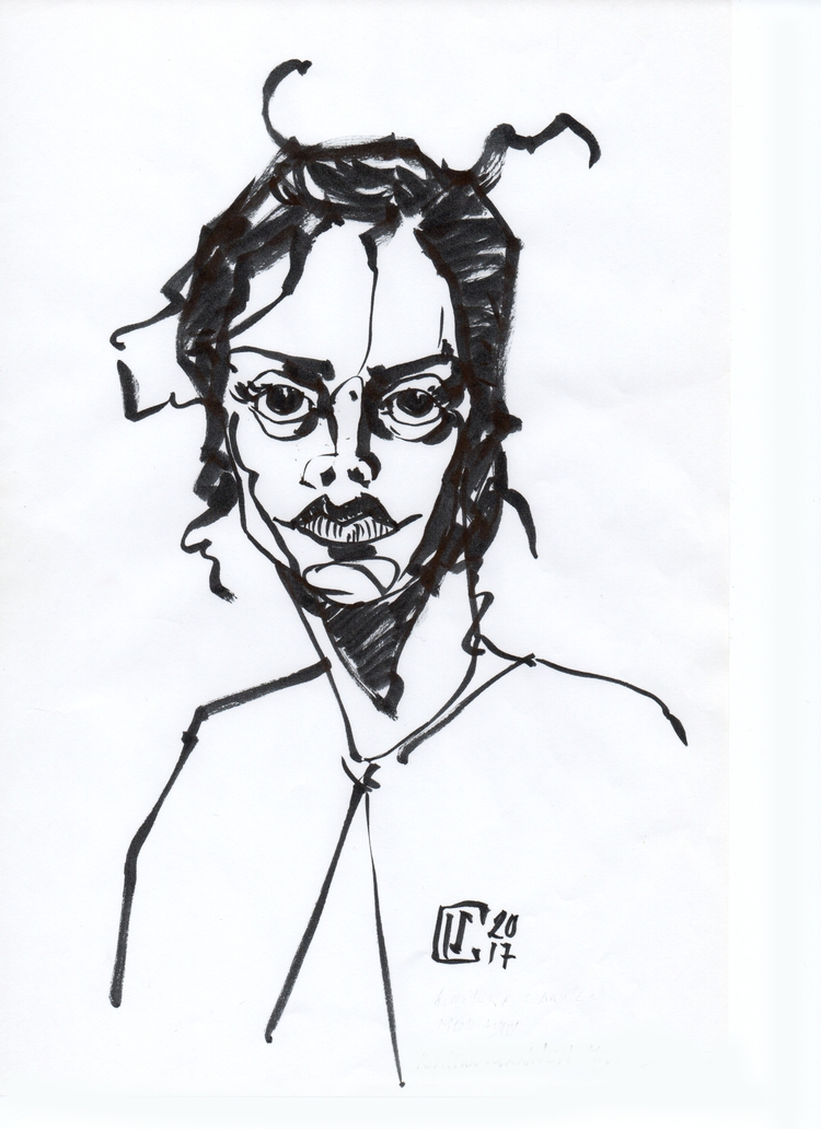 mannen-mouhitsu - pen, ink, illustration - lcs-illustration | ello