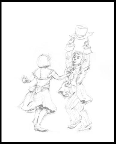 Dance Joy draw pencil - illustration - mwchau | ello