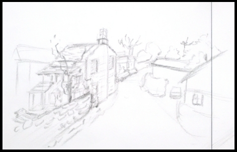 Village draw Pencil - illustration - mwchau | ello