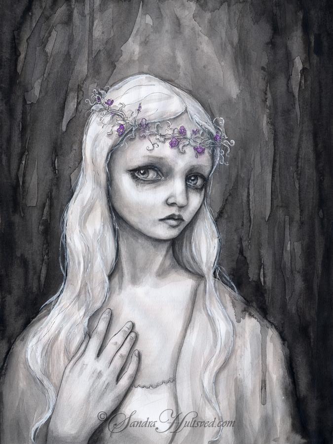 Veronika Ink painting, 2017. Si - sandrahultsved | ello