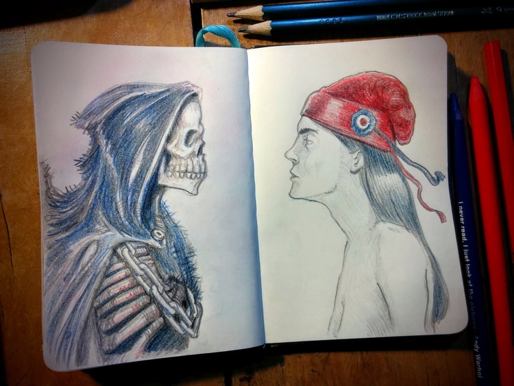 Death freedom Sketchbook - colo - aureliorauber | ello