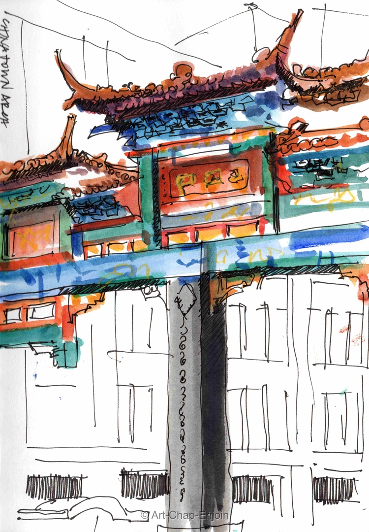 - Chinatown arch sketch Saturda - artchapenjoin | ello