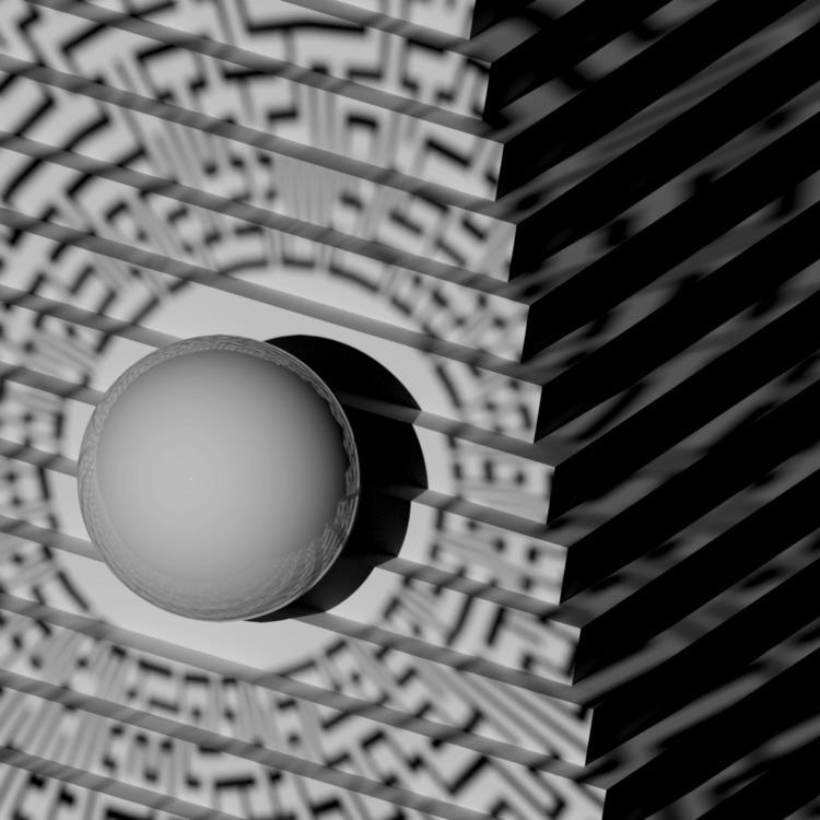 b3D, 3Dart, abstract, blackandwhite - ikiste | ello