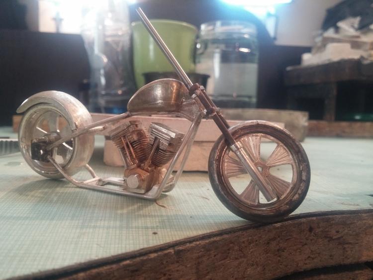 jewelry, silver, handmade, motorcycle - devid_mesropov | ello