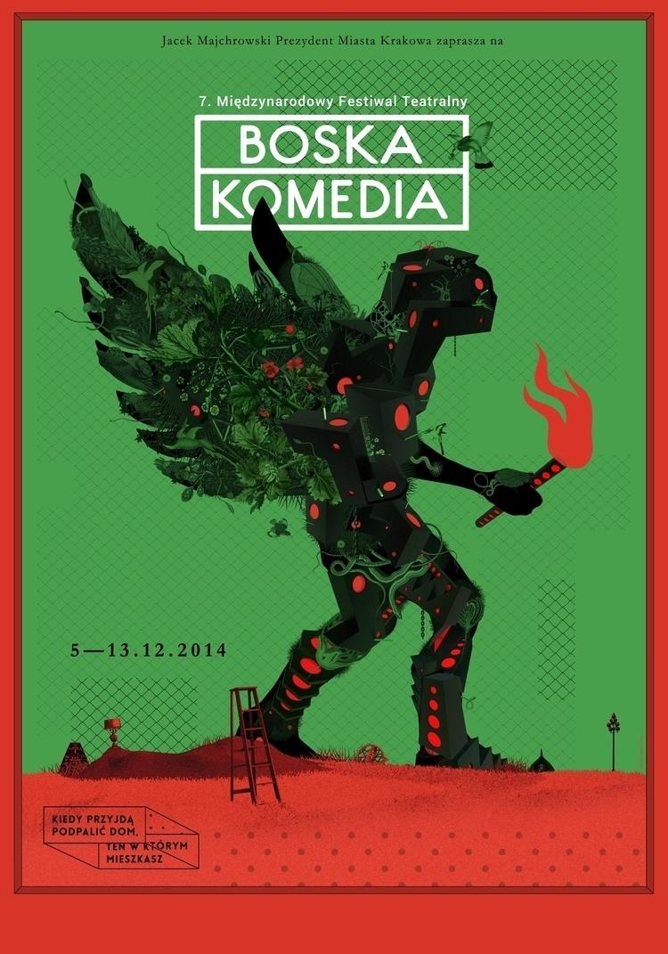 poster 7th DIVINE COMEDY Intern - victorsoma | ello