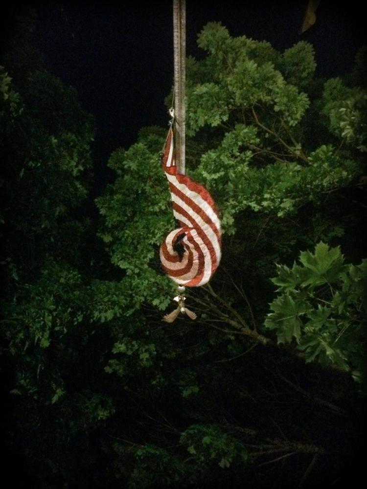 Lit, bent flopping wind - flag, starsandstripes - jbrennan | ello