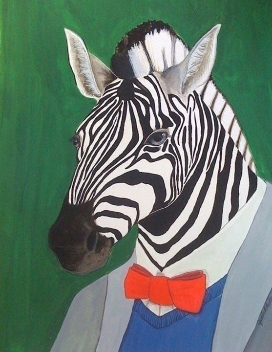Zebra, gouache watercolor paper - jamieluoto | ello
