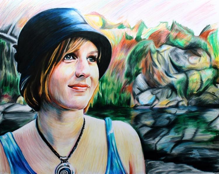 Maggie (colored pencil drawing - skyler_brown_portraits | ello