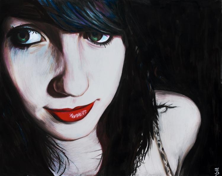 Lora (colored pencil drawing) S - skyler_brown_portraits | ello