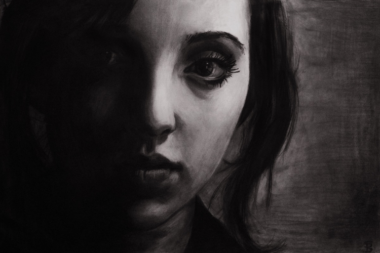 Kat (charcoal drawing) Skyler B - skyler_brown_portraits | ello