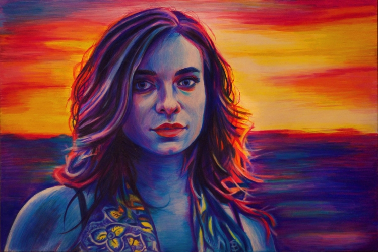 Sierra Blue (colored pencil dra - skyler_brown_portraits | ello