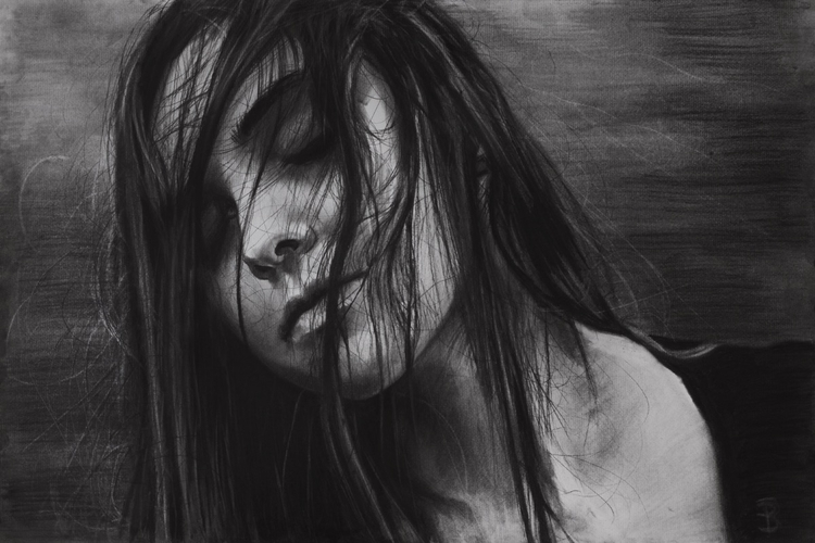 Sleep III (charcoal drawing) Sk - skyler_brown_portraits | ello